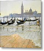 Venice At Dawn Metal Print