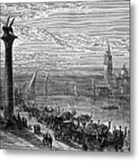 Venice: Grand Canal, 1875 Metal Print