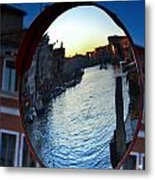 Venice Grand Canal Mirrored Metal Print