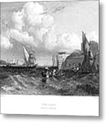 Venice: Lido, 1833 Metal Print