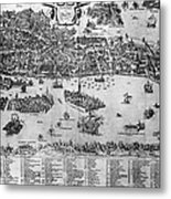 Venice: Map, C1566 Metal Print