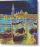 Venice Venezia Glow Metal Print