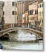 Venice Venezia Venetian Bridge Metal Print by Italian Art