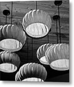 Vented Lights In Black And White Metal Print