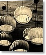 Vented Lights In Sepia Metal Print