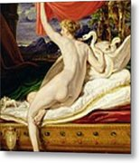 Venus Rising From Her Couch Metal Print