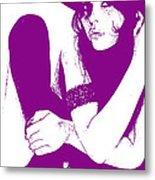 Vera Purple Metal Print