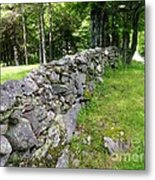 Vermont Stone Wall Metal Print
