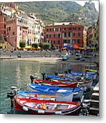Vernazza's Harbor Metal Print