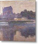 Vernon Church In Fog Metal Print by Claude Monet