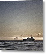 Verrazano And The Boat Metal Print