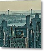 Verrazano From Manhattan Metal Print