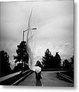 Vertical Cloth Wind  Metal Print by Scott Sawyer