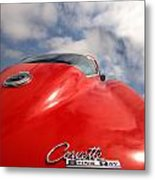 Vette Window Metal Print