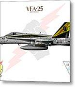 Vfa-25 Fist Of The Fleet Charlie Metal Print