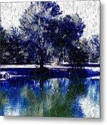 Vibrant Blue Metal Print