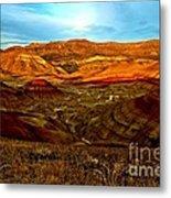 Vibrant Hills Metal Print