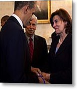 Vicki Kennedy Wife Of The Late Sen Metal Print