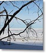 Victoria Beach Winter Metal Print