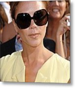 Victoria Beckham At Arrivals Metal Print by Everett