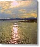 Victoria Harbor Sunset Metal Print