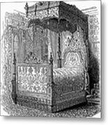 Victorian Bed, 1846 Metal Print