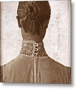 Victorian Lady From Behind Metal Print