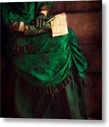 Victorian Lady With Letters Metal Print