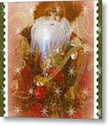 Victorian Santa Metal Print