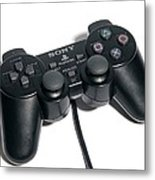 Video Game One,1controller Metal Print