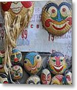 Vietnamese Bamboo Masks For Sale Metal Print
