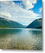 View Above A Beautiful Lake During Mid Day Metal Print