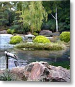 View Across The Pond Metal Print