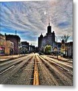 View Down Broadway Into Downtown Buffalo Ny Vert Metal Print
