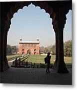 View From Inside The Red Fort With Tourist Metal Print