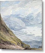 View From Skiddaw Over Derwentwater  Metal Print