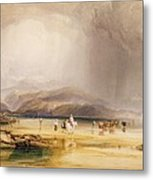 View From Snowdon From Sands Of Traeth Mawe Metal Print
