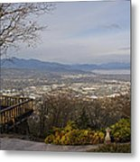 View From The Home On Top Of The Hill Metal Print