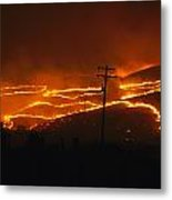 View Of A Forest Fire Near Boise, Idaho Metal Print