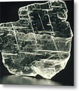 View Of A Sample Of Selenite, A Form Of Gypsum Metal Print by Kaj R. Svensson