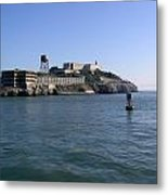 View Of Alcatraz From A Boat That Is Leaving The Island Metal Print