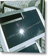 View Of An Amorphous Solar Cell Metal Print