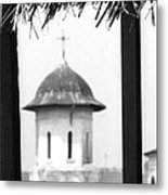 View Of An Old Church Bell Tower  Metal Print