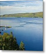 View Of Boulardarie Island From Seal Metal Print