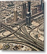 View Of Burj Khalifa Metal Print