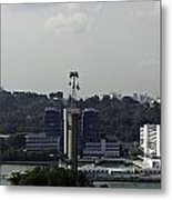 View Of Cable Car And Skyline From The Tiger Sky Tower In Sentos Metal Print
