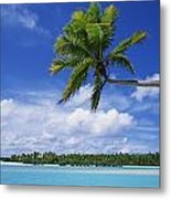 View Of Deserted Beach From Tapuae Tai Metal Print