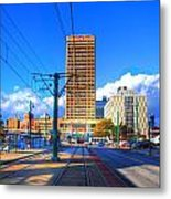 View Of Downtown Buffalo From The Tracks Metal Print
