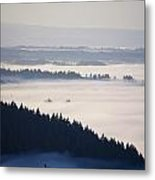 View Of Fog-covered Willamette Valley Metal Print