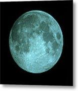 View Of Full Moon Metal Print